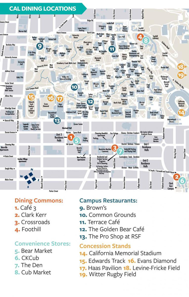 Campus Map Cal Dining